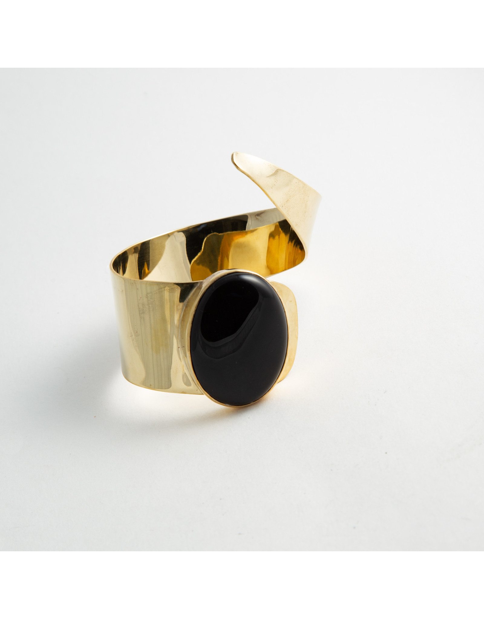 Buddha Jewelry Organics Buddha Jewelry Organics Brass & onyx cuff