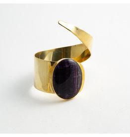Buddha Jewelry Organics BJO Brass & Fluorite cuff