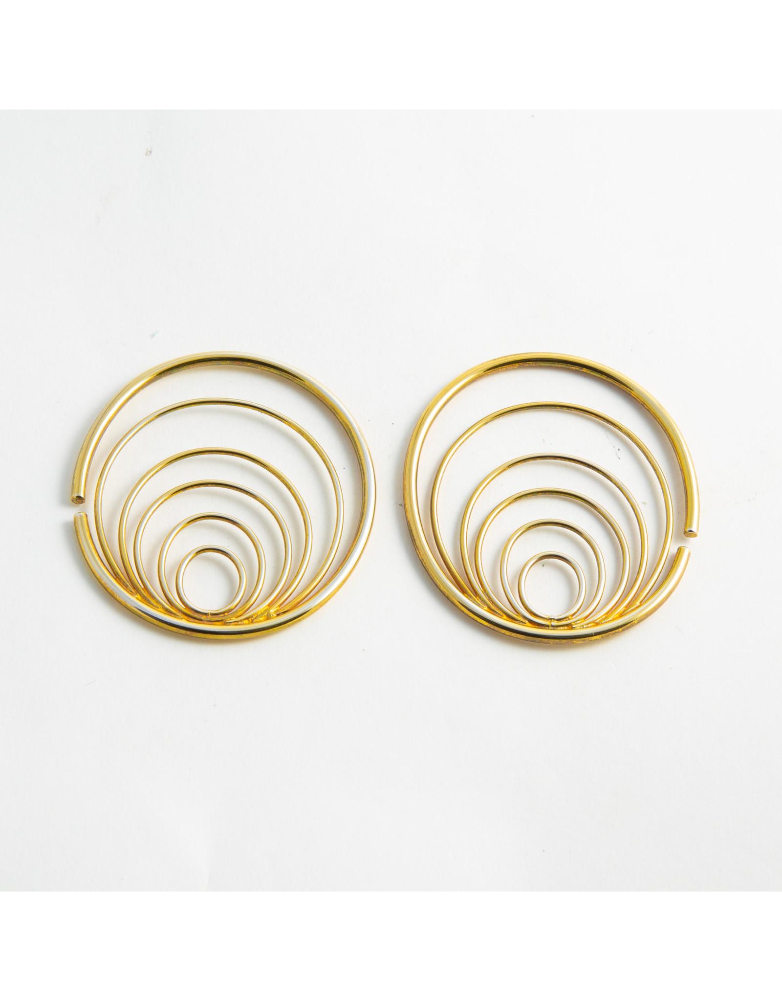 "Buddha Jewelry Organics Buddha Jewelry Organics yellow gold plate ""Osiris"" hanging design"