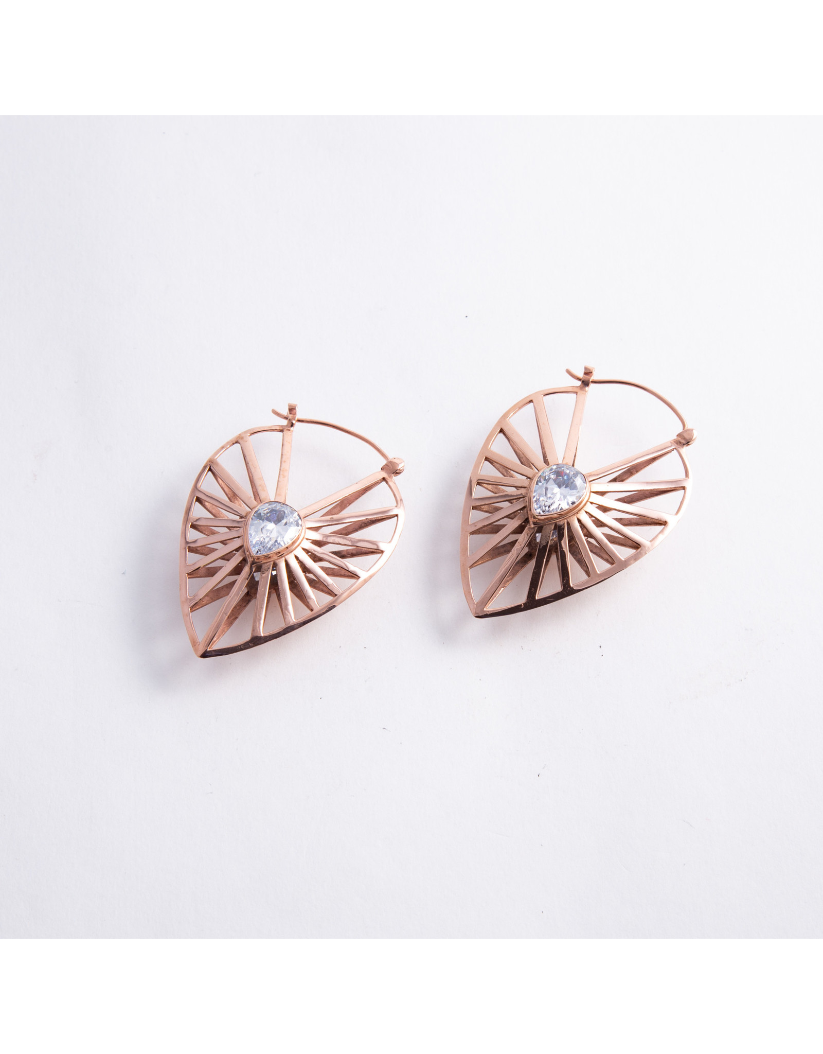 """Buddha Jewelry Organics Buddha Jewelry Organics rose gold plate """"Manifest"""" with CZ hanging design"""