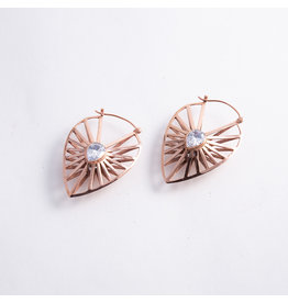 "Buddha Jewelry Organics BJO Rose Gold ""Manifest"" with CZ"