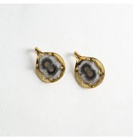 """Buddha Jewelry Organics BJO Brass """"Aura"""" with Stalactite Slice"""