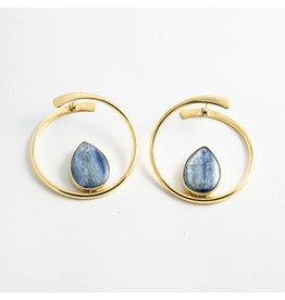 "Buddha Jewelry Organics BJO Yellow Gold ""Stay Sexy"" with Blue Kyanite"