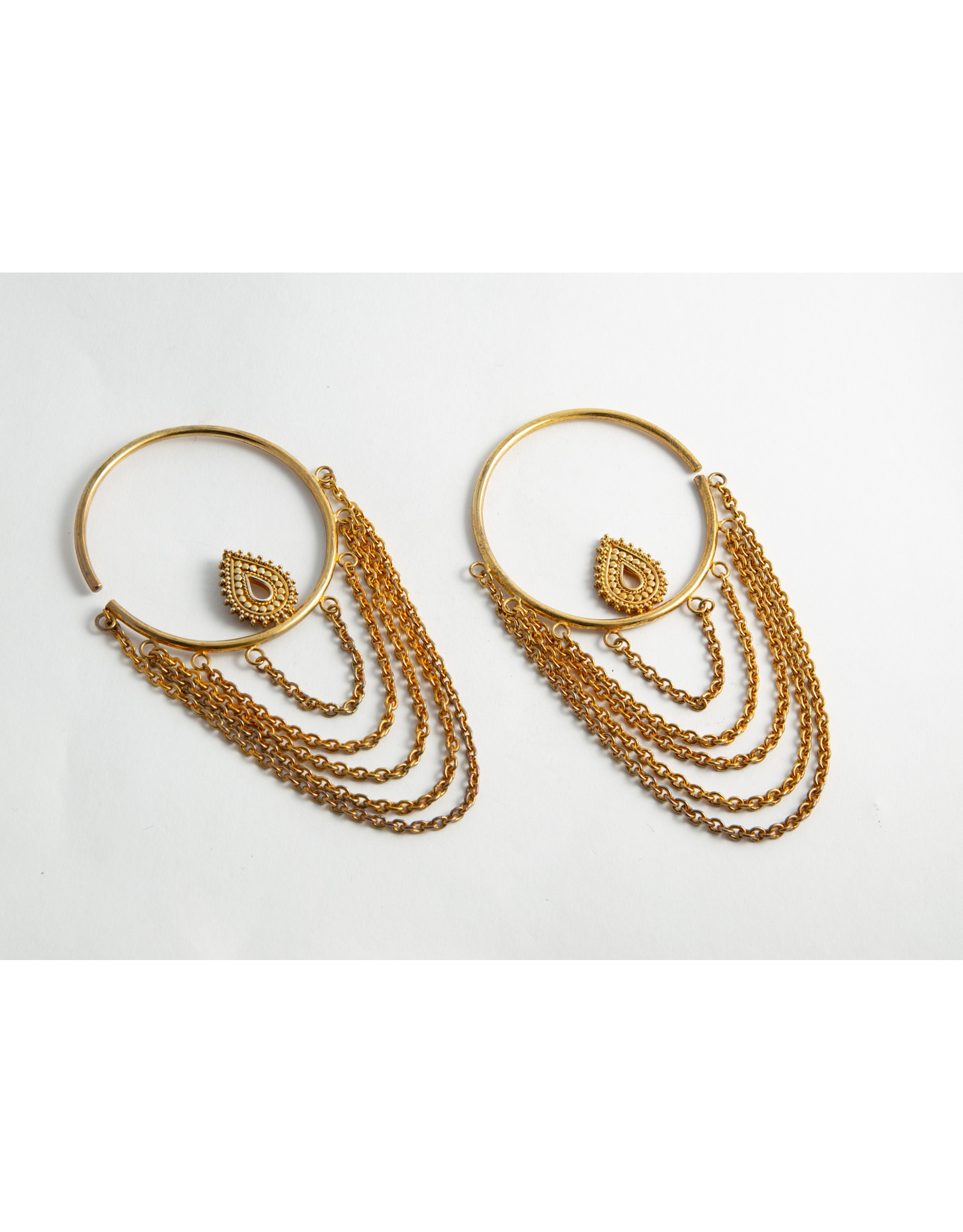"Buddha Jewelry Organics Buddha Jewelry Organics Yellow Gold plate Medium ""Deity"" hanging design"