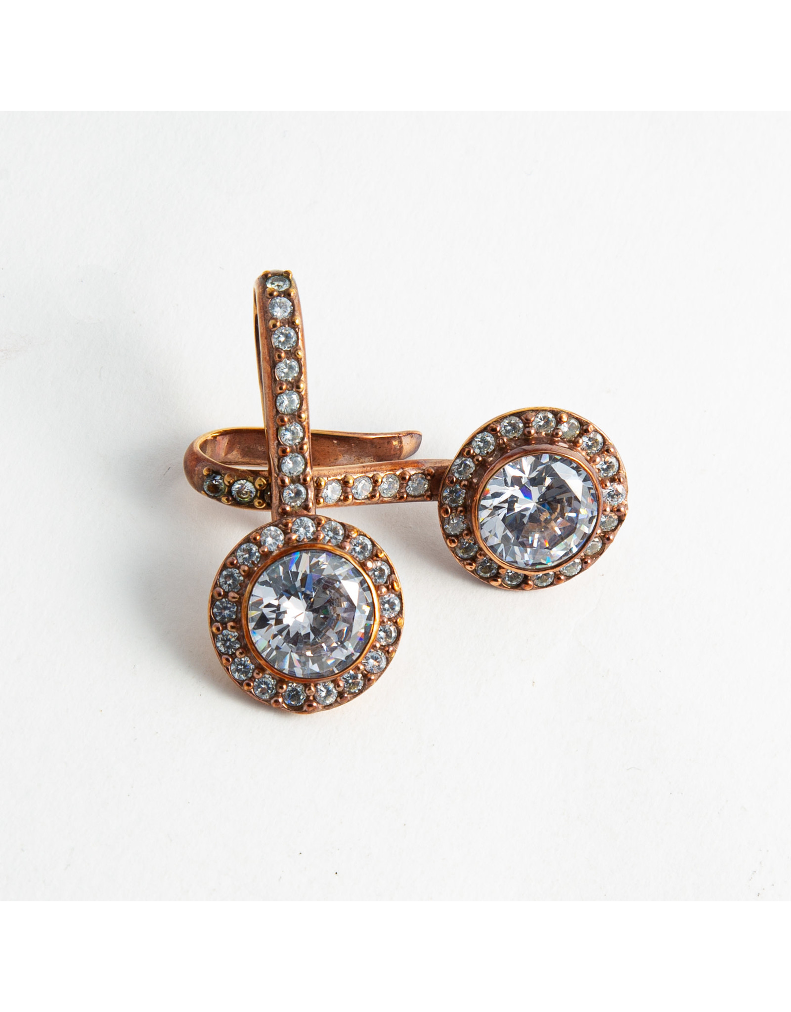"""Buddha Jewelry Organics Buddha Jewelry Organics rose gold plate """"Brilliant"""" with CZ"""