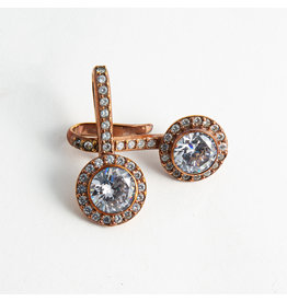 "Buddha Jewelry Organics BJO Rose Gold ""Brilliant"" with CZ"
