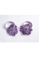 """Buddha Jewelry Organics Buddha Jewelry Organics Silver """"Halo"""" with Amethyst"""