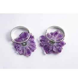 "Buddha Jewelry Organics BJO Silver ""Halo"" with Amethyst"