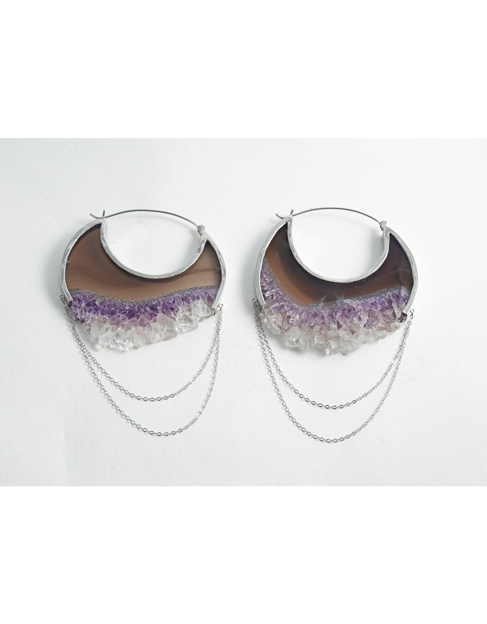 """Buddha Jewelry Organics Buddha Jewelry Organics Silver-set """"Moonstruck"""" with Amethyst"""