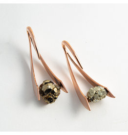 "Buddha Jewelry Organics BJO Rose Gold plate Large ""Zahara"" with Pyrite"
