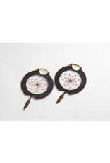 Quetzalli jewelry Quetzalli Copper Dream Catcher hoops