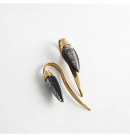 Quetzalli jewelry Quetzalli Brass Nautilus Coil