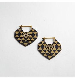 "Quetzalli jewelry Quetzalli Brass ""Yantra"""