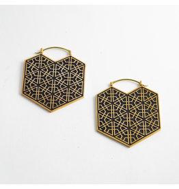 """Quetzalli jewelry Quetzalli Brass """"Ikal"""""""