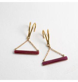 "Quetzalli jewelry Quetzalli Brass ""Horizon"" with Genuine Ruby"