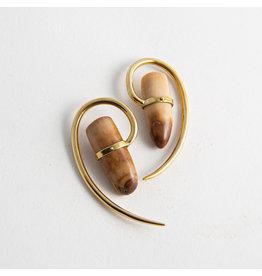 Quetzalli jewelry Quetzalli Brass Fossil Walrus Tooth