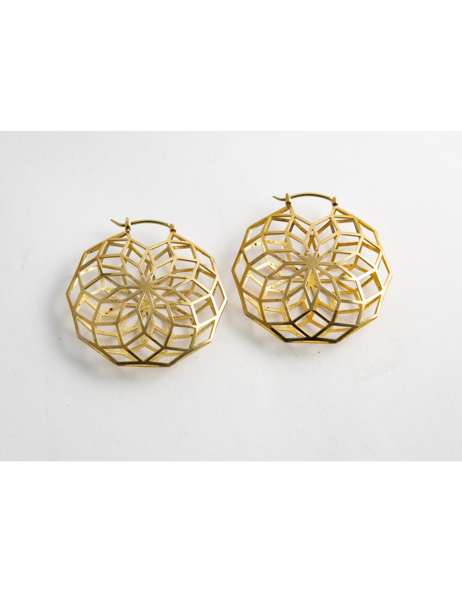 """Quetzalli jewelry Quetzalli brass """"Glow"""" hanging design"""