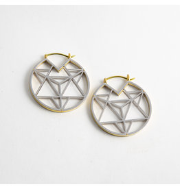 "Quetzalli jewelry Quetzalli White & Yellow Brass ""Tetrahedra"""