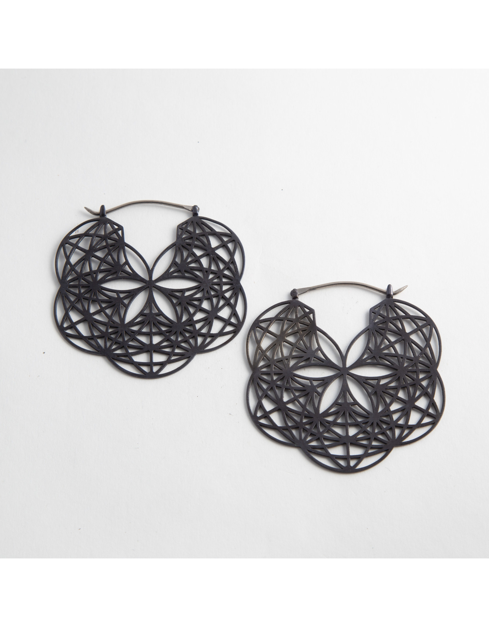 "Quetzalli jewelry Quetzalli Blackened steel ""Loves Ripple"" hanging design"