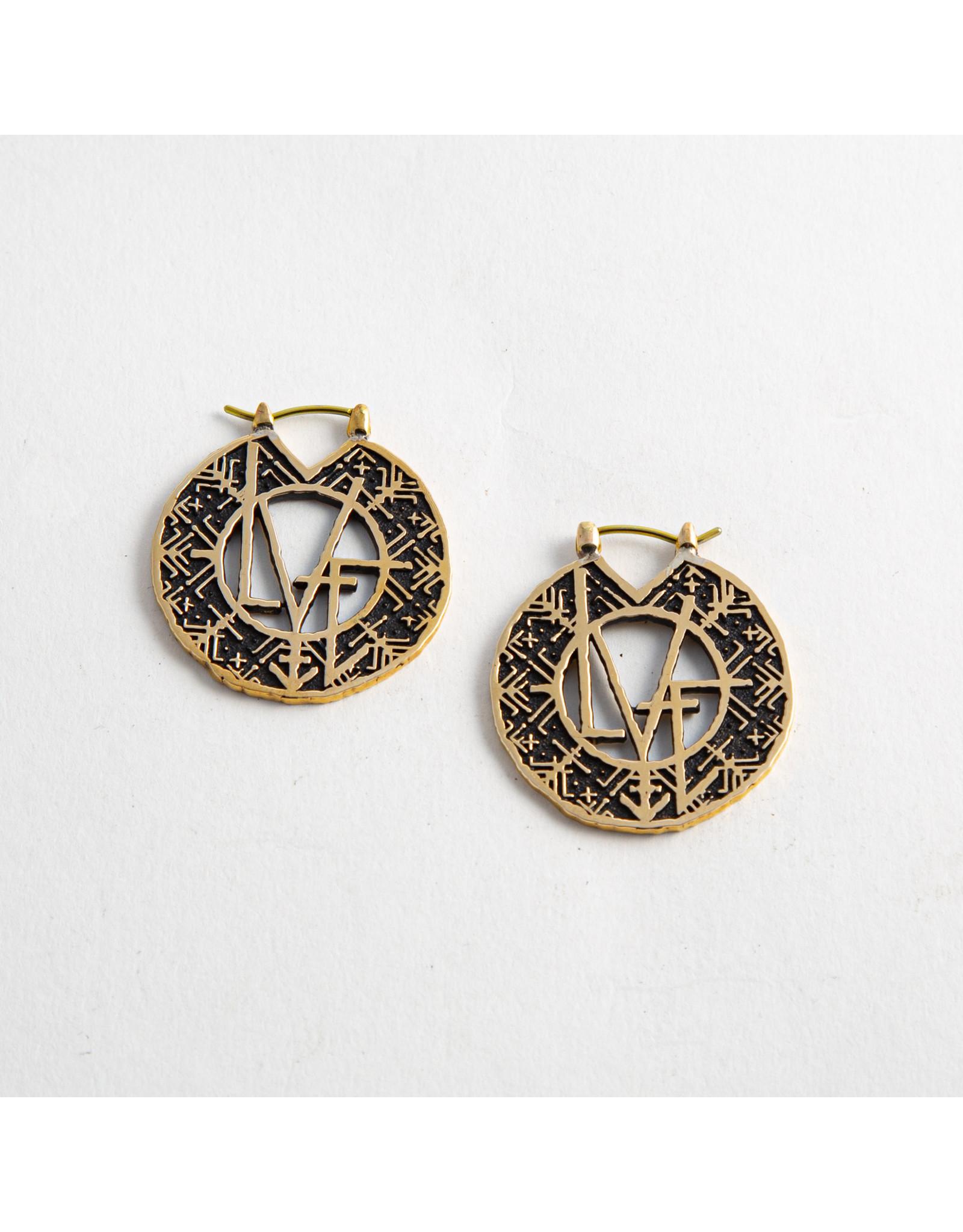 """Quetzalli jewelry Quetzalli brass Small """"Love Magic"""" rings"""