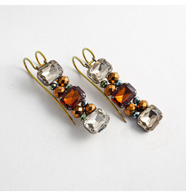 "Quetzalli jewelry Quetzalli Brass ""Glam"" with mixed Swarovski gems"