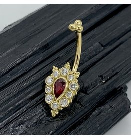 "BVLA BVLA 14g Yellow Gold ""Lucy"" with Ruby & Diamonds"