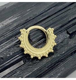 "BVLA BVLA 16g 11/32 Yellow Gold ""Afghan"" Seam Ring"