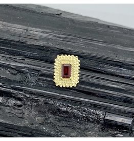 "BVLA BVLA Yellow Gold ""Afghan Baguette"" with Garnet"