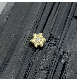 BVLA BVLA Yellow Gold Snowflake with CZ