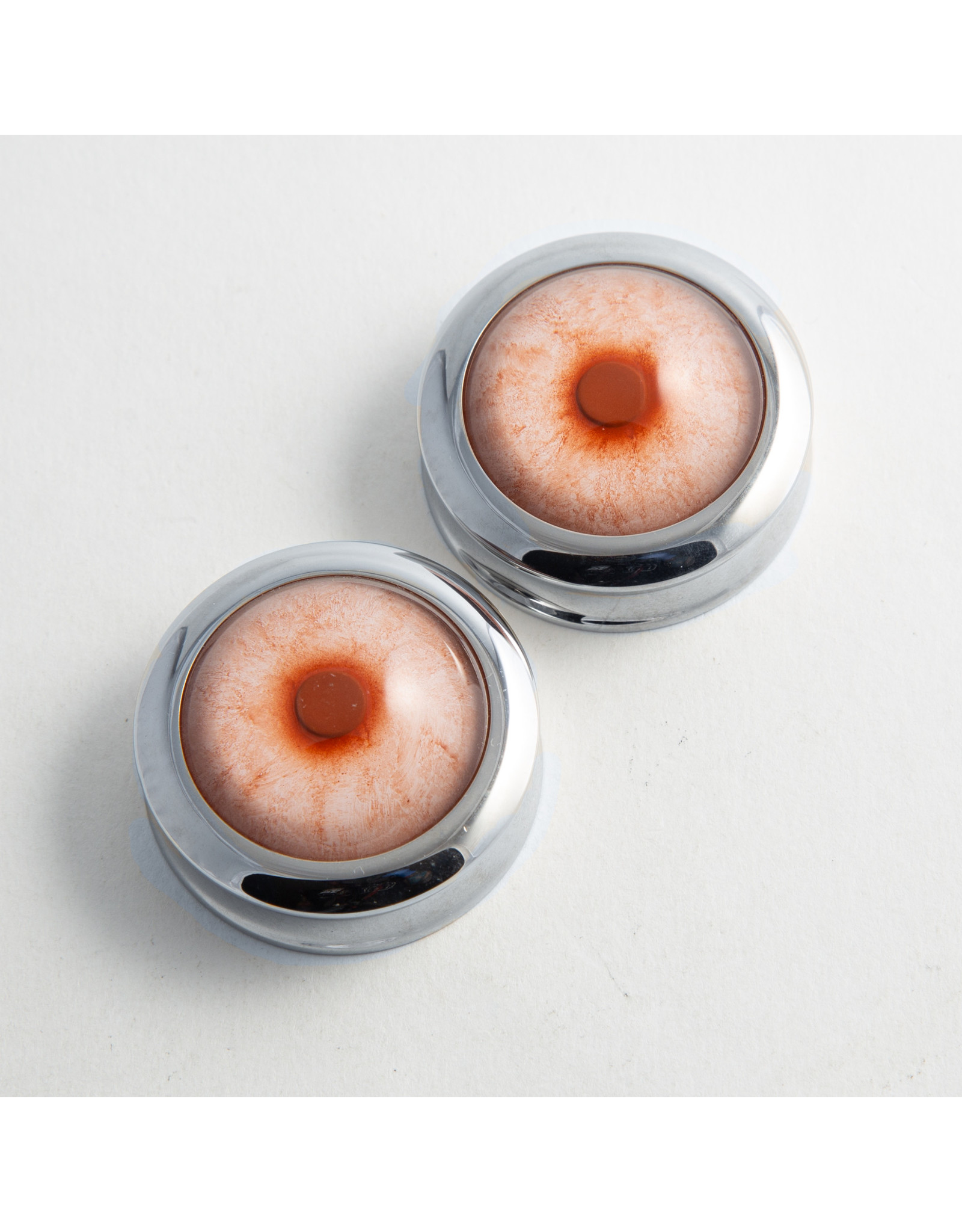 Reign Custom Design Reign 1-1/2 steel albino taxidermy eye double flared plugs