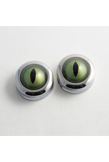 Reign Custom Design Reign 1-1/4 steel leopard frog taxidermy eye double flared plugs