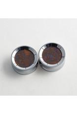 "Reign Custom Design Reign 1"" steel boulder opal cabochon double flared plugs"