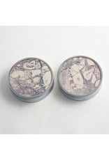 "Reign Custom Design Reign 2"" steel porcelain jasper cabochon double flared plugs"