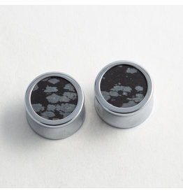 Reign Custom Design Reign 3/4 Steel Snowflake Obsidian Plugs
