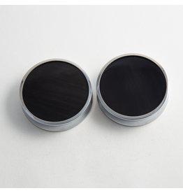 "Reign Custom Design Reign 2"" Steel Obsidian Plugs"