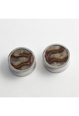 Reign Custom Design Reign 1-1/8 steel ammonite cabochon double flared plugs