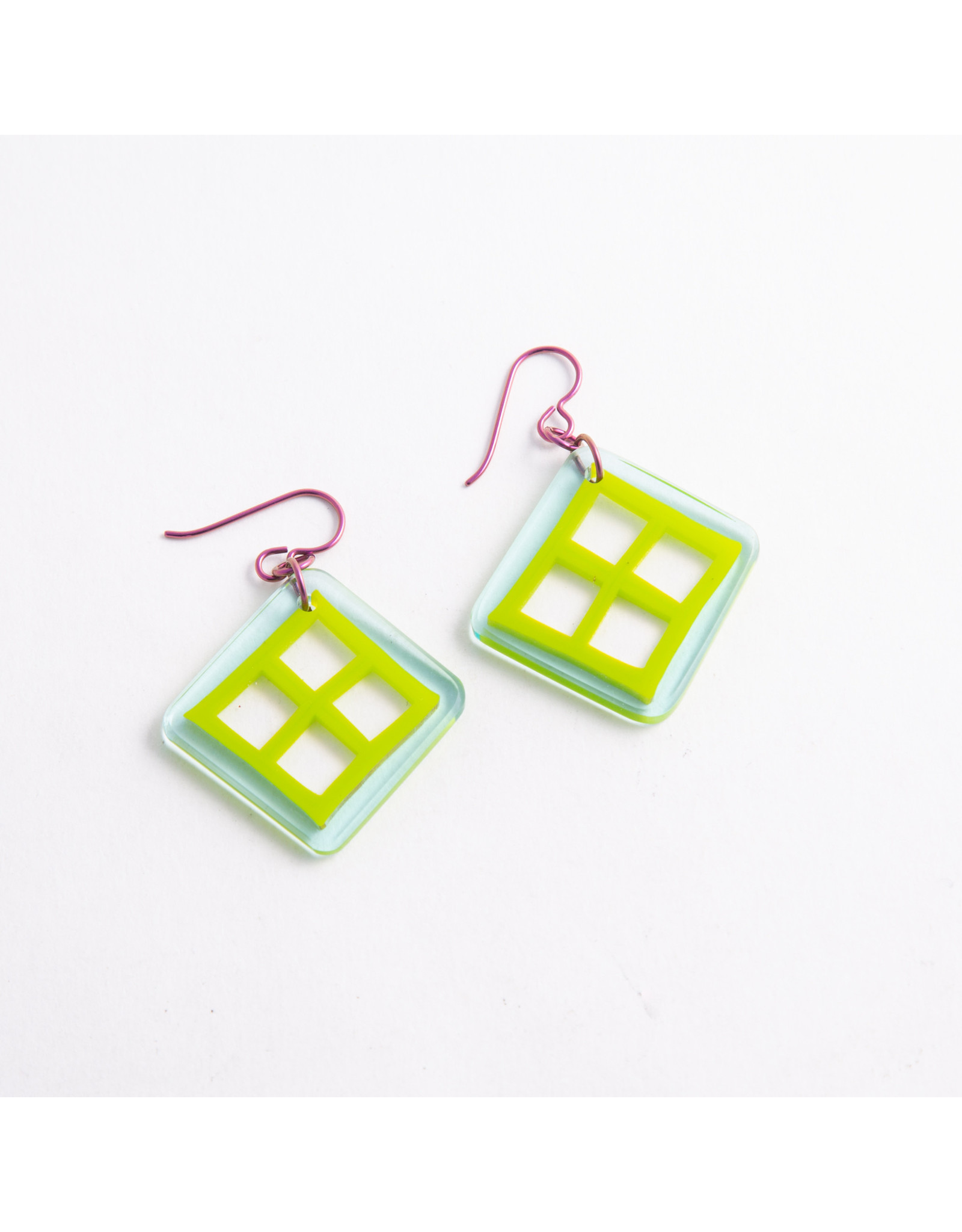 Gorilla Glass Gorilla Glass Turquoise & Green Playground Traditional earring