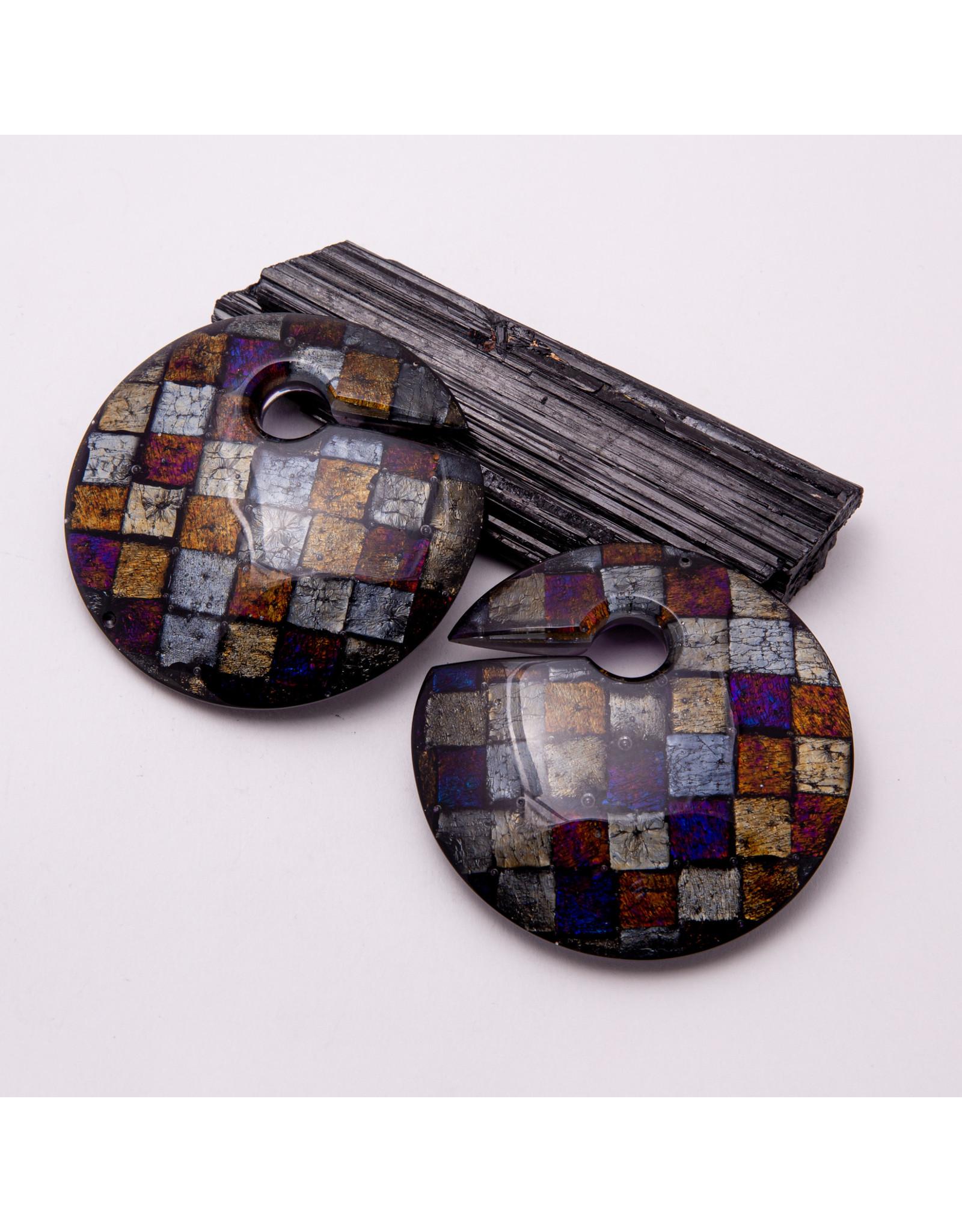 """Gorilla Glass Gorilla Glass checkered """"Eclipse"""" weights"""