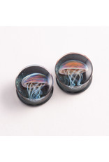 Glasswear studios Glasswear Studios 7/8 Jellyfish double flared plugs