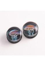 Glasswear studios Glasswear Studios 7/8 Jellyfish double flared plugs