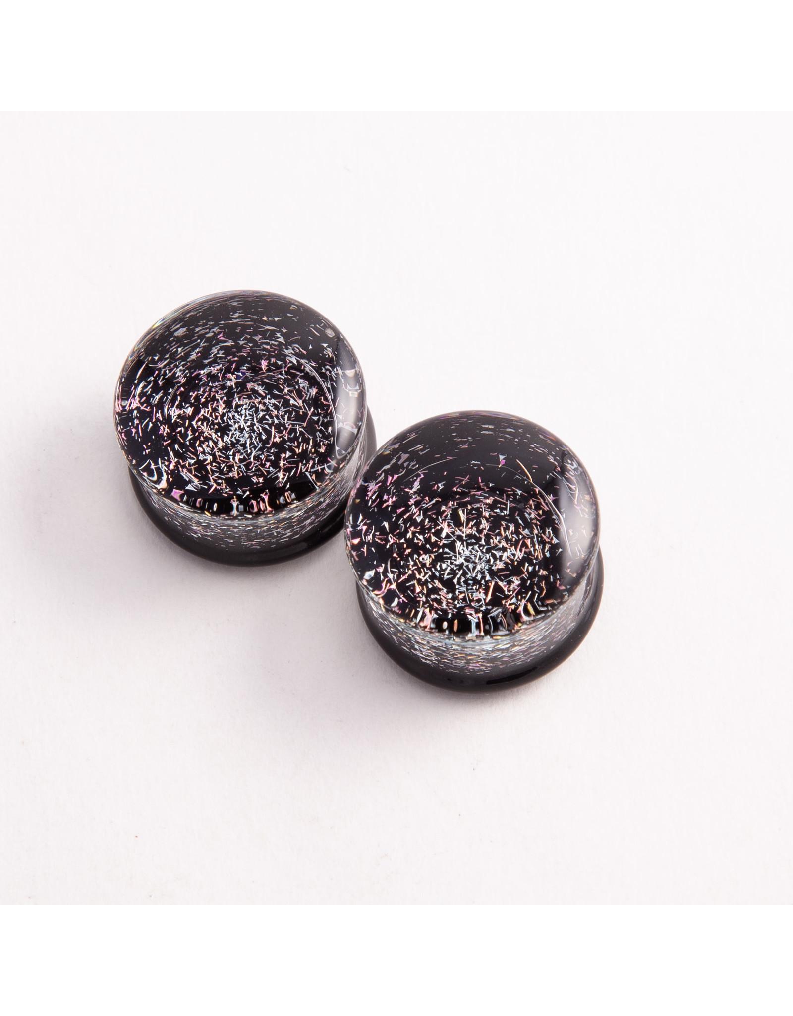 "Glasswear studios Glasswear Studios 1/2 diamond & pink ""Galaxy"" double flared plug"