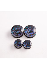 Glasswear studios Glasswear Studios 5/8 Foil Geometry double flared plug
