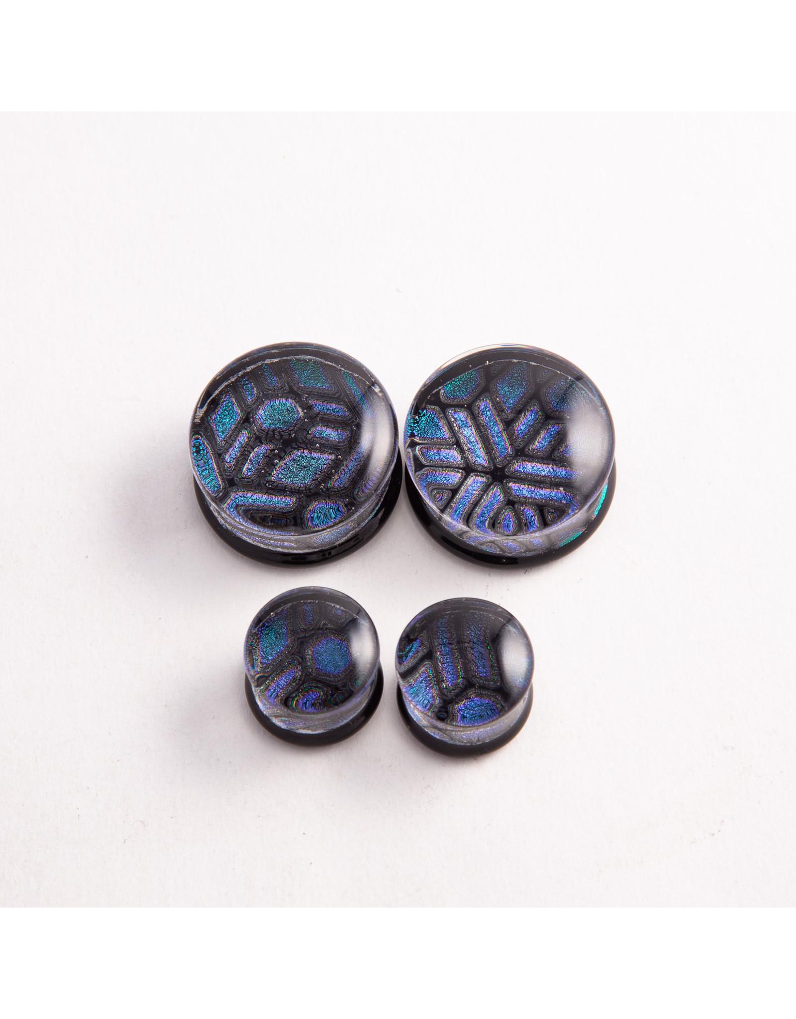 """Glasswear studios Glasswear Studios 1"""" Foil Geometry double flared plug"""