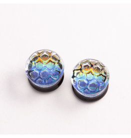 Glasswear studios Glasswear Studios 5/8 Honeycomb Texture Plugs