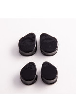 Glasswear studios Glasswear Studios 3/4 black teardrop double flared plugs