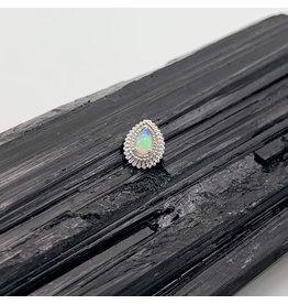 "BVLA BVLA White Gold ""Mini Afghan Pear"" with White Opal"