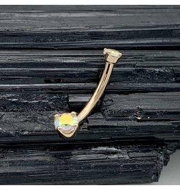 BVLA BVLA Rose Gold Prong-set Mercury Mist Topaz Navel Curve