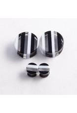 Gorilla Glass Gorilla Glass 7/8 black & white striped double flared plug