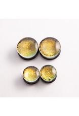 "Gorilla Glass Gorilla Glass 1"" yellow dichroic double flared plug"