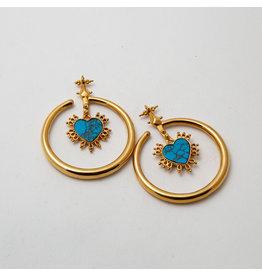 "Maya Jewelry Maya Yellow Gold Plate ""Queen of Hearts"""